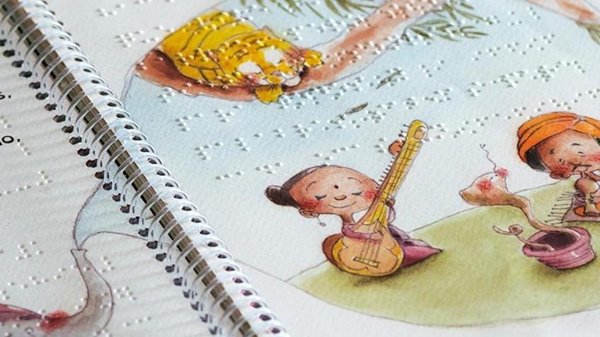 libro para niños impreso en braille