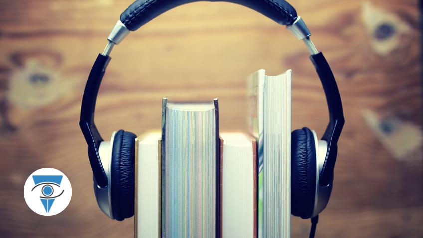 Libros con auricular