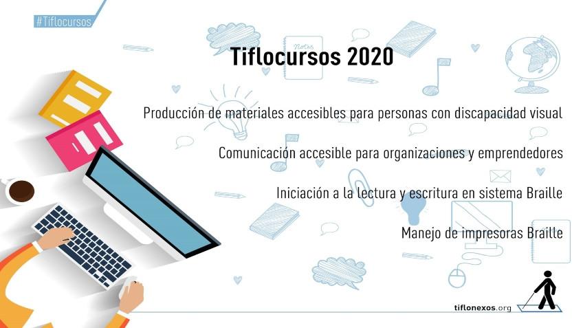 Placa Tiflocursos 2020